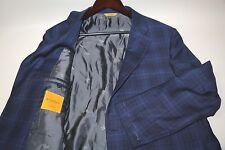 #108 Hickey Freeman Beacon Style Custom Two Button Blazer Jacket Size 44 R