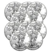 Lot of 10 Silver 2018 American Eagle 1 oz. Coins - .999 fine silver Eagles 1oz