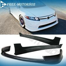 FOR 06-08 HONDA CIVIC SEDAN HFP FRONT BUMPER LIP & MUGEN SIDE SKIRT URETHANE