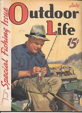 Outdoor Life magazine July 1939 J F Kernan  cover special fishing issue hunting