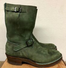 Wesco 7400 Engineer Boss Boot - Olive Nubuck Leather - Sz 12D - $650 - CUSTOM