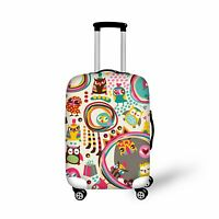 Cartoon Owl Elastic Travel Spandex Luggage Cover Suitcase Protective 20-30 inch