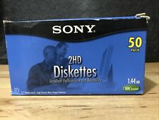 "44 Each Sony 50MFD-2HD Micro Floppy Disks 3.5"" IBM Formatted Open Box New"