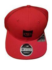 San Francisco 49ers Kyle Shanahan New Era Red Snapback Trucker Hat Cap New