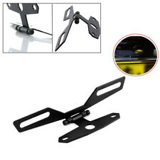 Black Motorcycle Flip Up License Plate Eliminator Bracket Holder Adjustable