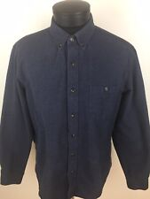 J. Crew Chamois Elbow patch Shirt Heather Gray Flannel Size Large