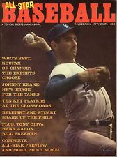 1965 All-Star Baseball magazine, Sandy Koufax, Los Angeles Dodgers ~ VG