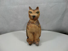 Carved Calico Cat by Tim Jumper (?) mid 80's - Vg