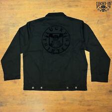 """Lucky 13 unlined Worker Jacket """"Death Shield"""" - Rockabilly Streetwear NEU"""