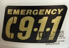"Call 9-1-1 Emergency Decal, Firefighter, EMS, EMT, Reflective 3 1/4""h    #EM57"