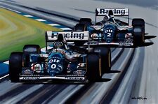 Damon Hill 70x50 cms limited edition F1 art print by Colin Carter