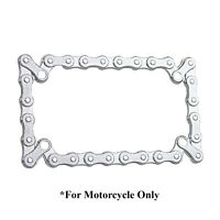 3D BIKE CHAIN CHROME METAL MOTORCYCLE LICENSE PLATE FRAME FOR HARLEY-DAVIDSON
