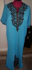 Moroccan Kaftan Sky Blue  ONE SIZE Evening/House Summer Dress