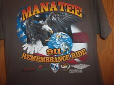 Manatee 911 Remembrance Ride brown M t shirt