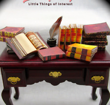 14 ANTIQUE STYLE Miniature Books Dollhouse 1:12 Scale Fill a Library Faux Prop