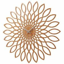 Karlsson Wall Clock Sunflower 60cm Diameter Beech Veneer