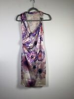 Gianni Versace Authentic womens silk floral dress size 38 aus 6 sleeveless