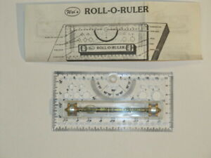 NEW WEI'S Brass Roll-O-Ruler Draftsman's Tool Mapping & Instructions