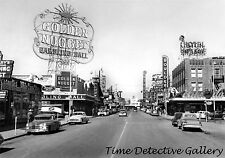Downtown, Las Vegas, Nevada - 1950 - Vintage Photo Print