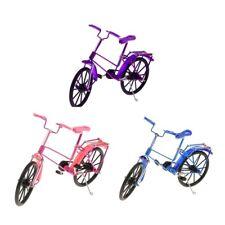 3pcs Modèle Bicyclette Miniature Vélo Fingurine Mini Bike Jouet Métal