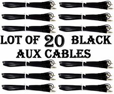 LOT X 20pc BLACK AUX CABLES AUXILIARY CORD Male Stereo Audio Cable iPod MP3 CAR