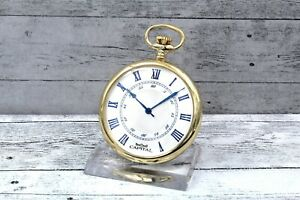 Capital Pocket Watch Rolled Gold Indexes Blue elegnte Gift Quartz