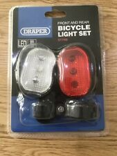 Front and Rear LED Bicycle Light Set Draper