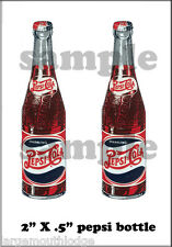 "2"" PEPSI BOTTLE DECAL STICKER GUMBALL MACHINE"