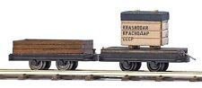 Busch 12207 Two Transport Wagon H0f # New Original Packaging #