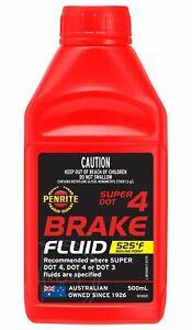 Penrite Brake Fluid Super DOT 4 500mL fits Audi Super 90 1.8
