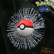 CAR STYLING POKEMON GO 3D POKE BALL FUNNY CAR STICKERS DECAL GLASS ACCESSORIES