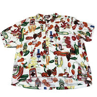 Vintage Paradise Found Hawaiian Shirt  Hot Peppers Rare Design XL Made In Hawaii