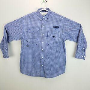 Columbia Mens S Bonehead Omni-Shade PFG Long Sleeve Button Front Shirt Vented