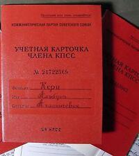 Soviet Communist Party Membership Book Registration Card * USSR CCCP Memorabilia