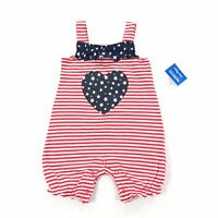 Infant girls USA//patriotic long legged romper sz,6,9 month by Carter/'s