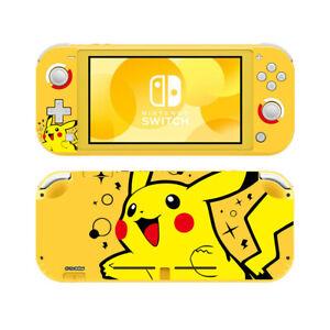 Nintendo Switch Lite Skin Pokemon Pikachu Yellow Vinyl Decal Screen Protector