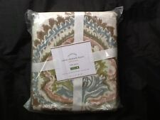 POTTERY BARN ADELE DAMASK ORGANIC DUVET COVER FULL/QUEEN MULTI NEW