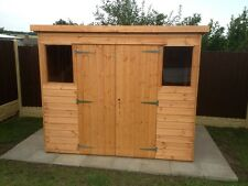 8 X 6 Pent Garden Shed With Double Doors