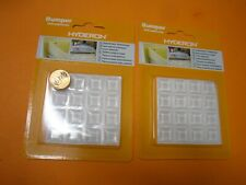 2 X 16PK SELF ADHESIVE CLEAR RUBBER FEET BUMPERS SQUARE CLLINDRICAL SHAPE