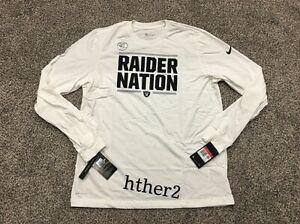 2019 Oakland Raiders Nike Local Sideline Dri-Fit Long Sleeve Shirt Vegas M - 2XL