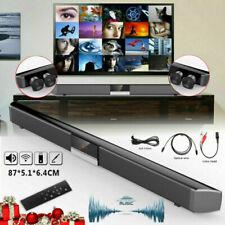 60W TV Sound Bar Home Theater Soundbar 4.0 System Subwoofer Coaxial Optical Xmas