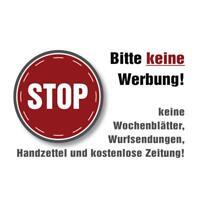 4 x Aufkleber STOP Bitte keine Werbung Brief Briefkasten Postkasten Post