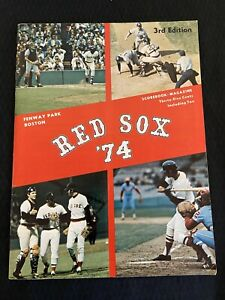Vintage 1974 Boston Red Sox Scorebook Magazine