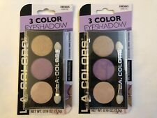 L.A. Colors 3 Color Eyeshadow Trio Cbes625* water lily* Matte(2pack)