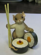 """Charming Tails """"You Have Naturally Good Taste"""" Mouse sushi chopsticks # 89295"""