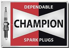 CHAMPION SPARK PLUG ADVERTISING METAL SIGN,RETRO,GARAGE,SPARK PLUGS