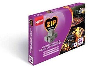 Zip High Performance Odourless Firelighters No Food Taint 28 Cubes