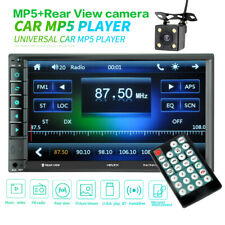 7inch HD 2Din Touch Screen Car Stereo MP5 Player Radio IOS Android USB/TF+Camera