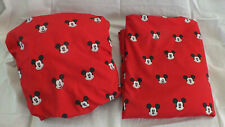 Disney's Mickey Mouse Red Full Sheet Set - 2 Piece Set Mickey Mouse Faces Soft.