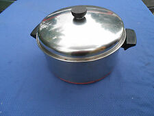 Vintage Revere Ware Copper Maid Stainless Steel 6qt. Clinton Illinois Pot Pan